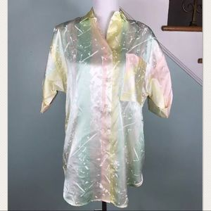 Vintage Hayes Street paint splatter Button down